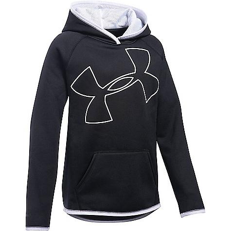 Under Armour Girls' UA Armour Fleece Highlight Hoodie Black / White / White