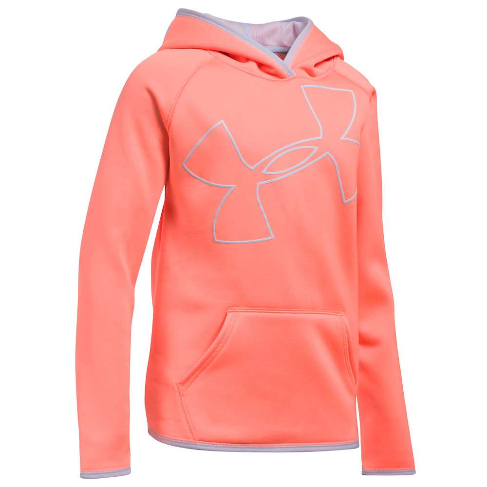 Under Armour Girls' UA Armour Fleece Highlight Hoodie - Medium - Imperial Purple / Lavender Ice / Lavender Ice