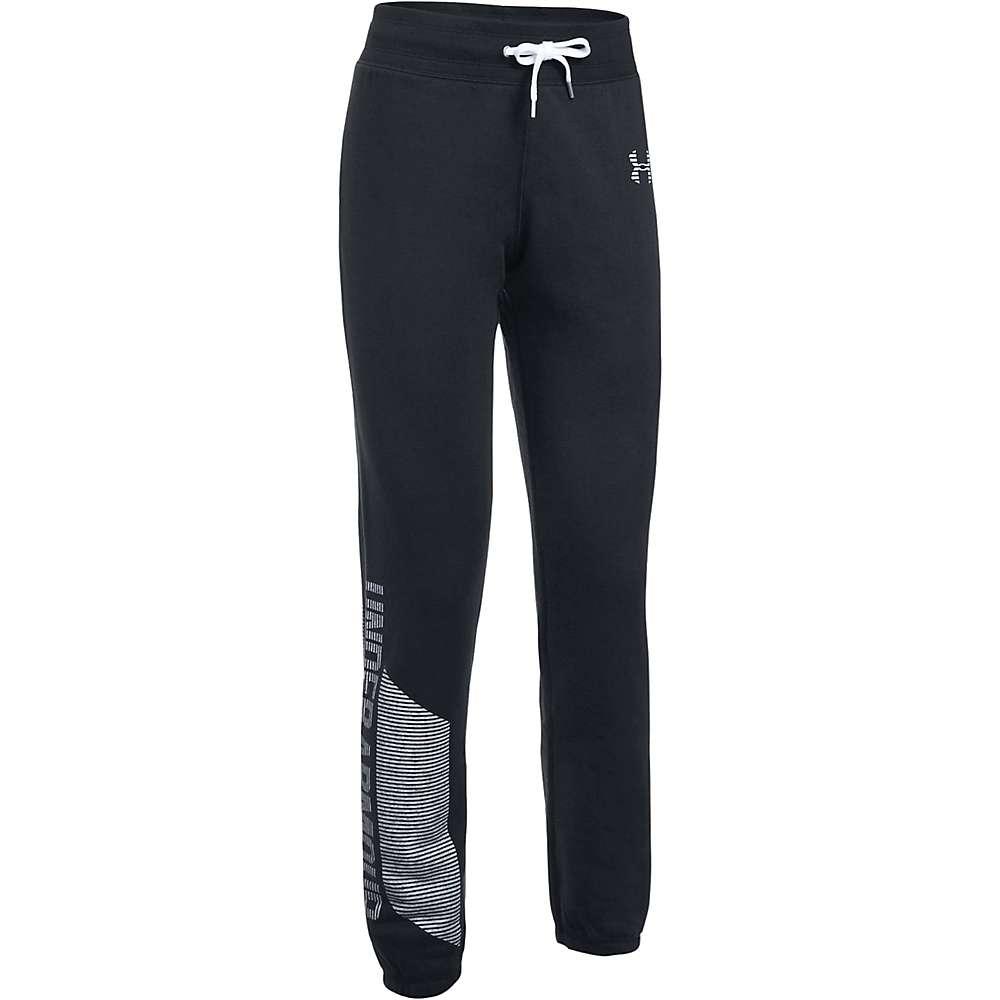 Under Armour Women's UA Favorite Fleece Pant - Medium - Black / White / White