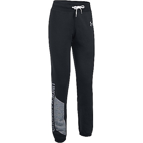 Under Armour Women's UA Favorite Fleece Pant Black / White / White