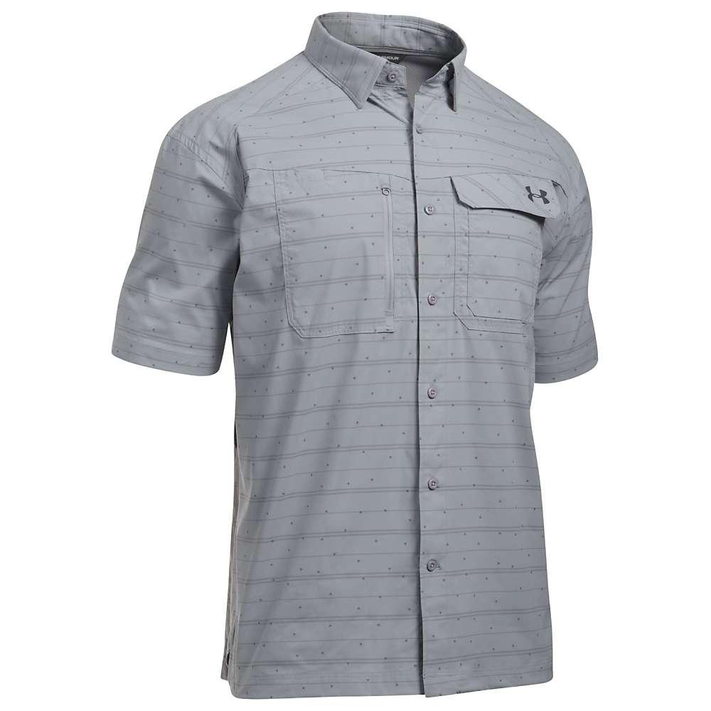 Under Armour Men's UA Fish Hunter SS Plaid Shirt - Medium - Overcast Grey / Rhino Grey Stripe