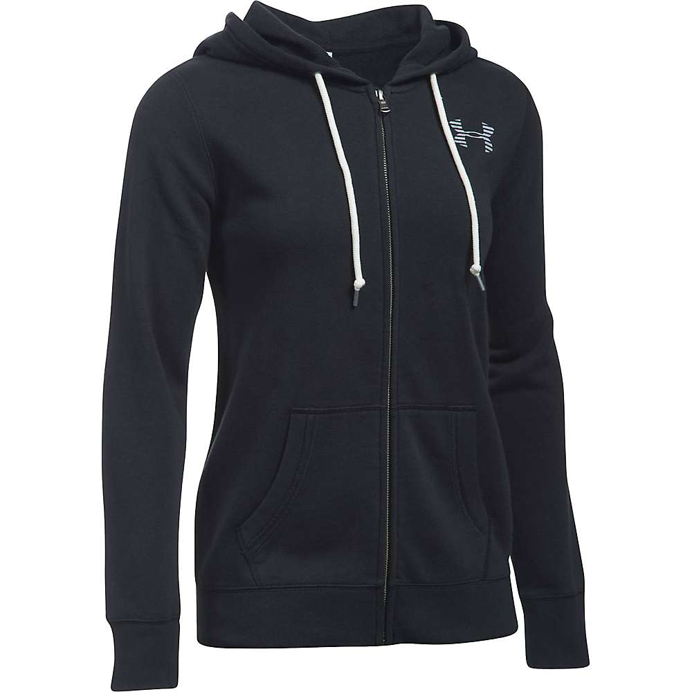 Under Armour Women's UA Favorite Fleece Full Zip Hoodie - Large - Black / White / White