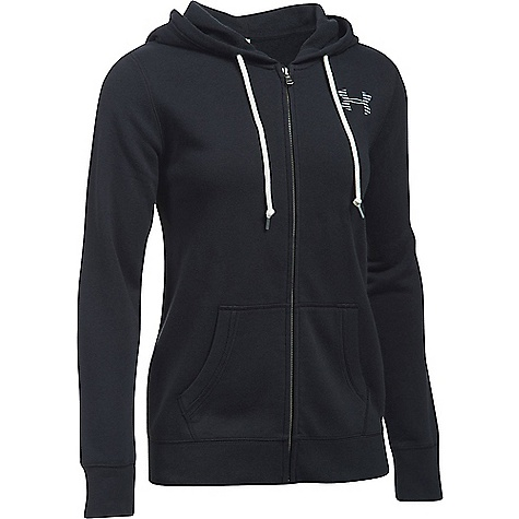 Under Armour Women's UA Favorite Fleece Full Zip Hoodie Black / White / White