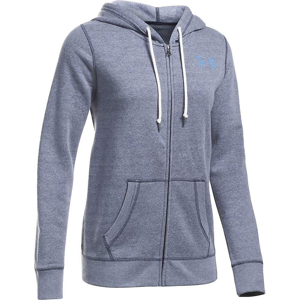 Under Armour Women's UA Favorite Fleece Full Zip Hoodie - XS - Midnight Navy Lt Heather/Carolina Blue/Crlna Blue