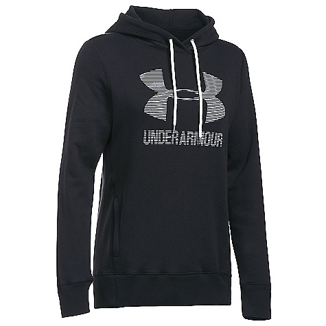 Under Armour Women's UA Favorite Fleece Sportstyle Hoodie Black / White / White