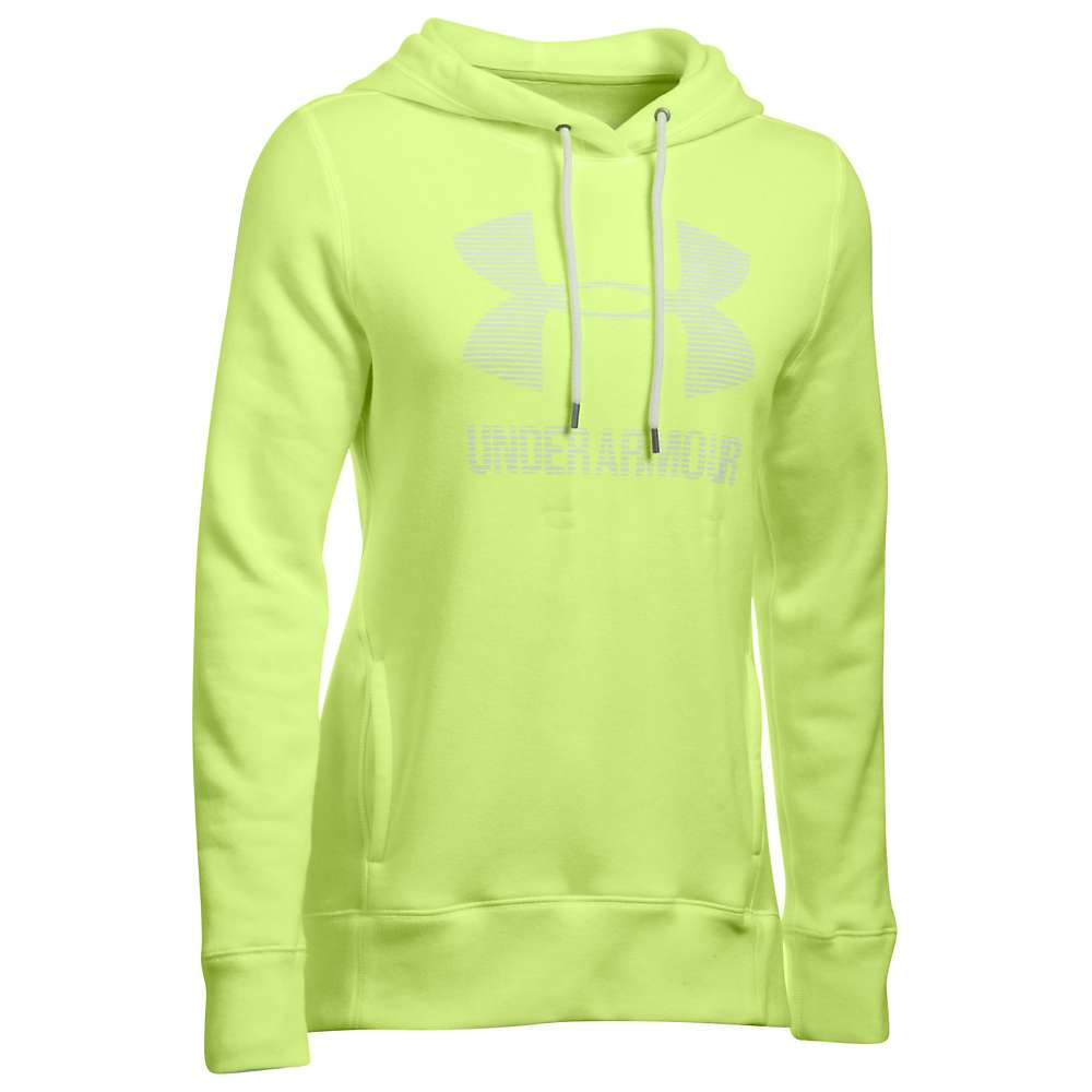 Under Armour Women's UA Favorite Fleece Sportstyle Hoodie - Large - Pale Moonlight Light Heather / White / White