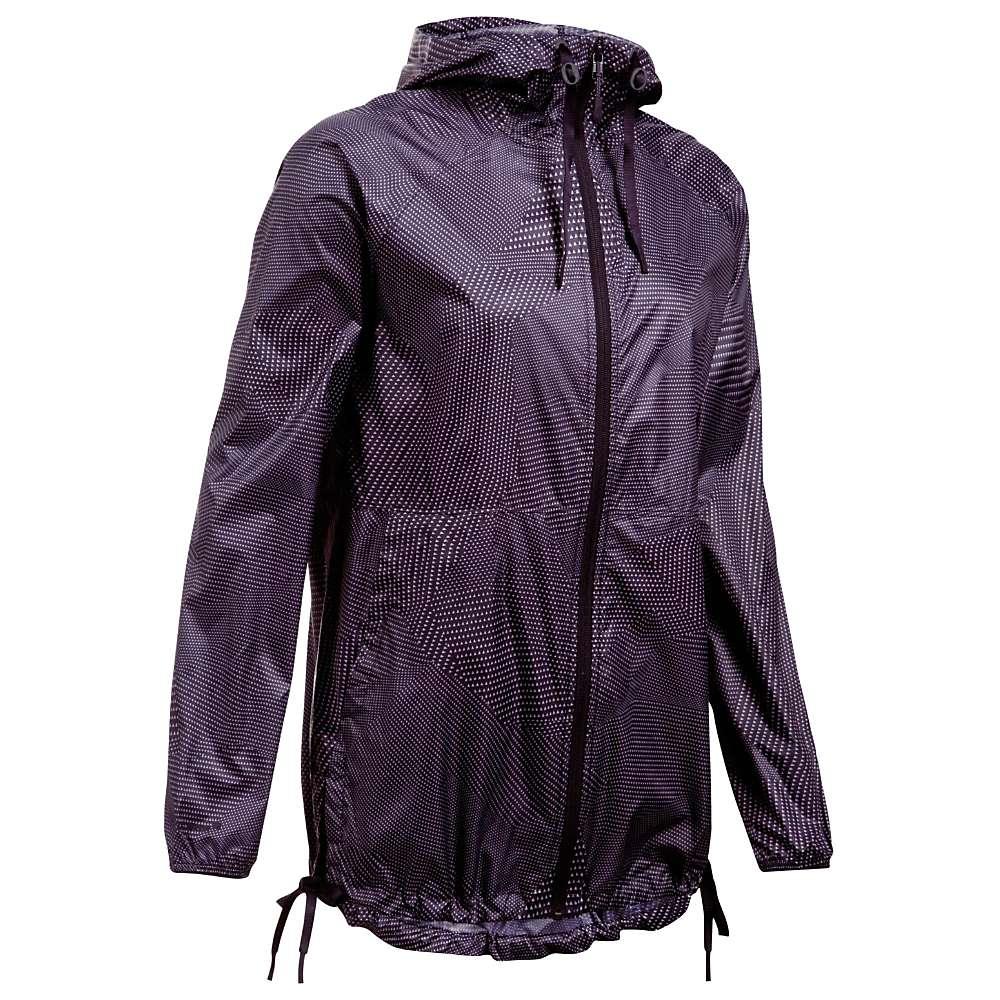 Under Armour Women's UA Leeward Windbreaker Jacket - Small - Imperial Purple / Imperial Purple / Flint