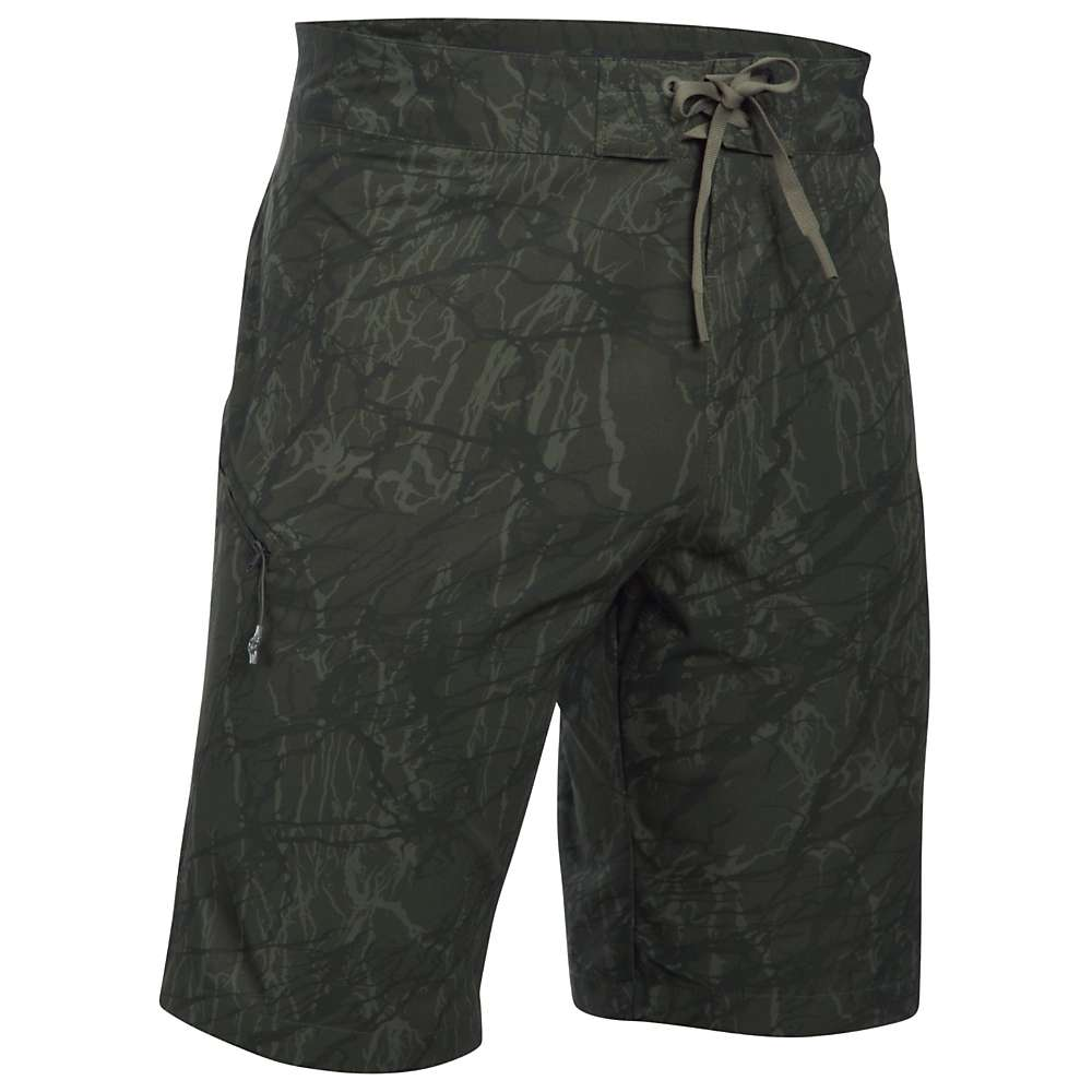 Under Armour Men's UA Reblek Printed Boardshort - 34 - Downtown Green / Foliage Green / Black