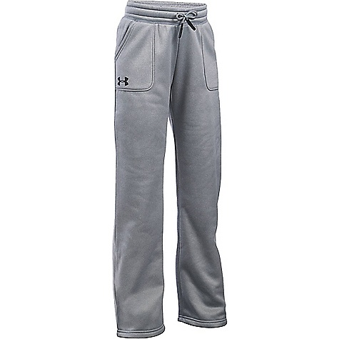 Under Armour Girls' UA Storm Armour Fleece Training Pant True Grey Heather / Black