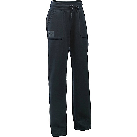 Under Armour Girls' UA Storm Armour Fleece Training Pant Black / Stealth Grey