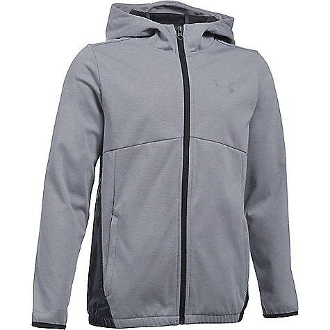 Under Armour Boys' UA Spring Swacket True Grey Heather / Reflective