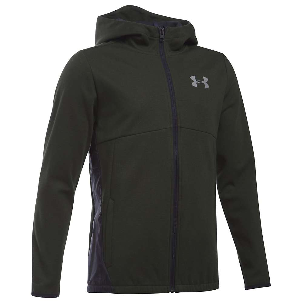 Under Armour Boys' UA Spring Swacket - XL - Artillery Green / Reflective