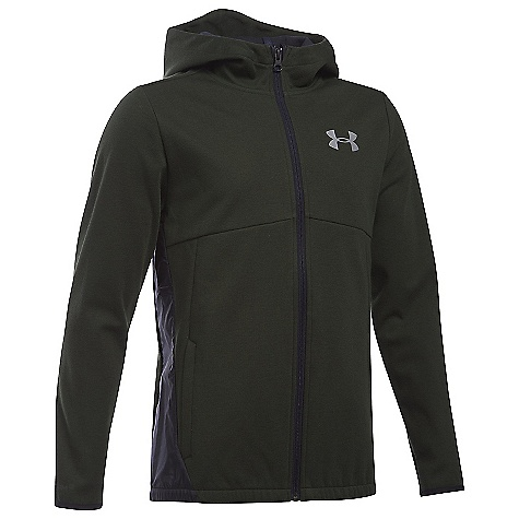Under Armour Boys' UA Spring Swacket Artillery Green / Reflective