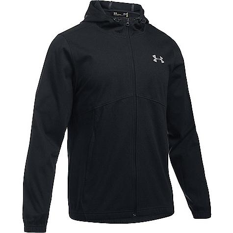 Under Armour Men's UA Spring Swacket Solid Full Zip Hoodie Black / Black / Silver
