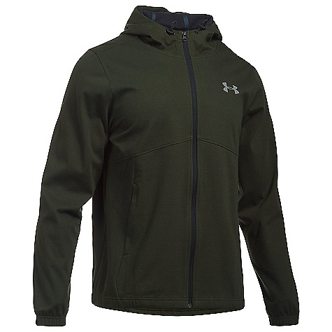 Under Armour Men's UA Spring Swacket Solid Full Zip Hoodie Artillery Green / Black / Silver