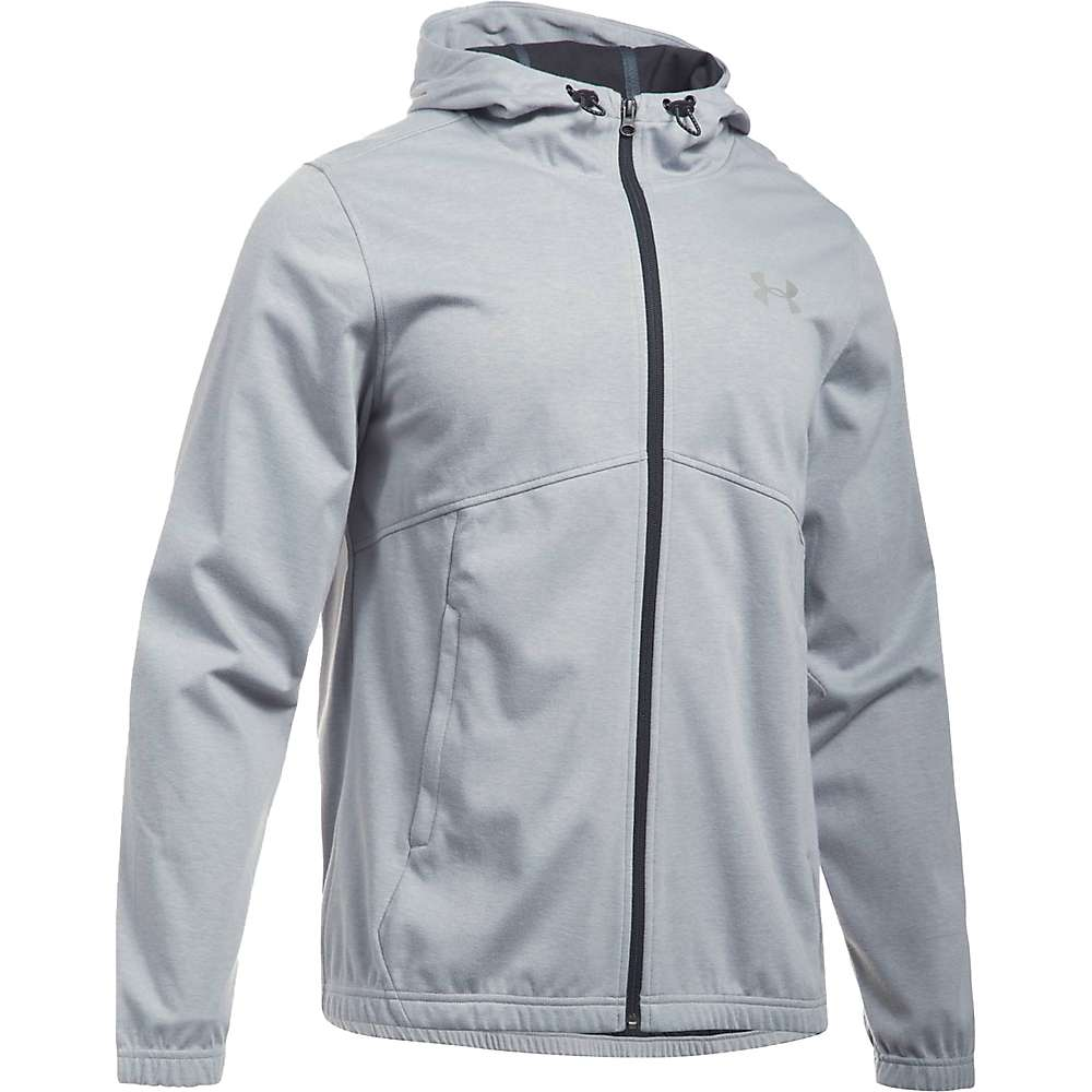 Under Armour Men's UA Spring Swacket Solid Full Zip Hoodie - Small - True Grey Heather / Black / Silver