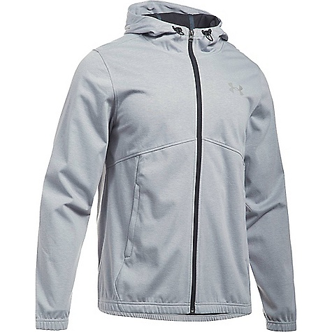 Under Armour Men's UA Spring Swacket Solid Full Zip Hoodie True Grey Heather / Black / Silver