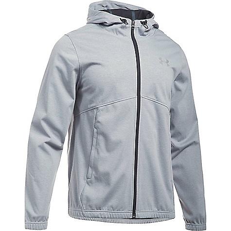 Under Armour Men's UA Spring Swacket Solid Full Zip Hoodie True Grey Heather / Black / Silver