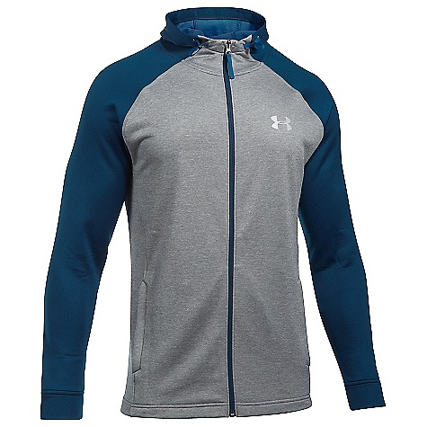 Under Armour Men's UA Tech Terry Full Zip Hoodie True Grey Heather / Fire / Silver