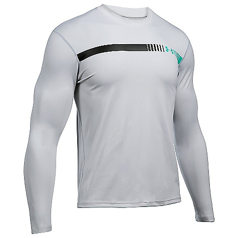 Under Armour Men's UA Threadborne LS Rashguard Glacier Grey / Overcast Grey / Blackout Navy