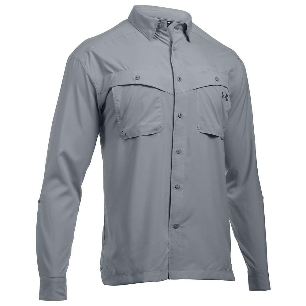Under Armour Men's UA Tide Chaser LS Shirt - Large - Overcast Grey / Rhino Grey