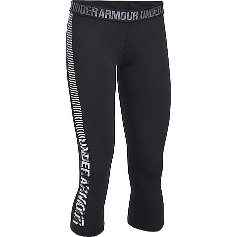 Under Armour Women's UA Favorite Graphic Capri Black / White / White