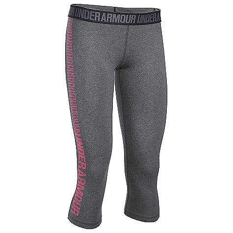 Under Armour Women's UA Favorite Graphic Capri Carbon Heather / Pink Shock / Pink Shock