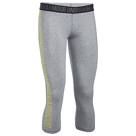Under Armour Women's UA Favorite Graphic Capri True Grey Heather / Smash Yellow / Smash Yellow