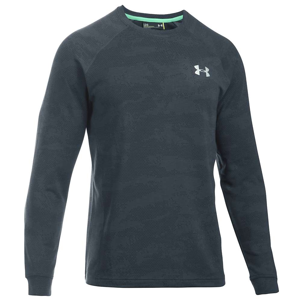 Under Armour Men's UA Tech Terry Crew Neck Top - XL - Stealth Grey / Stealth Grey / Silver