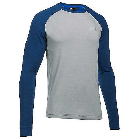 Under Armour Men's UA Tech Terry Crew Neck Top True Grey Heather / Fire / Silver