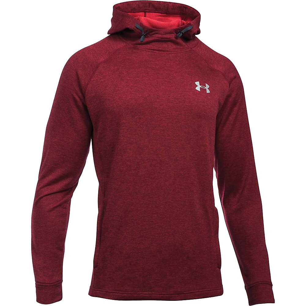 Under Armour Men's UA Tech Terry Popover Hoodie - XL - Red / Red / Silver