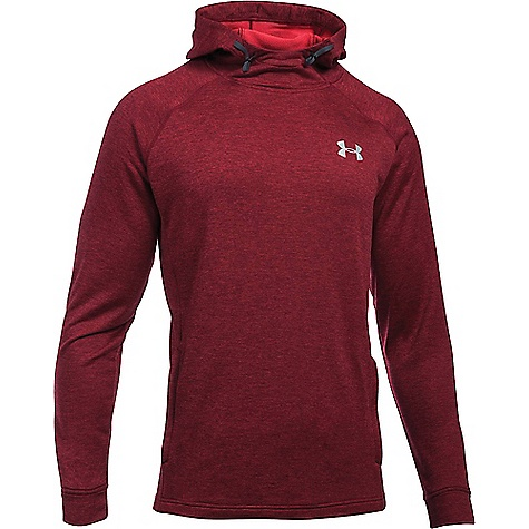 Under Armour Men's UA Tech Terry Popover Hoodie Red / Red / Silver