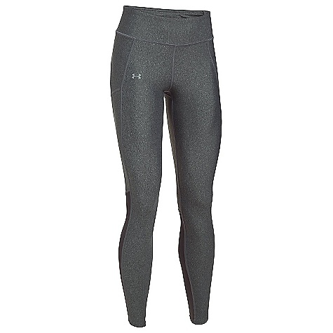 Under Armour Women's Fly By Legging Carbon Heather / Carbon Heather / Reflective