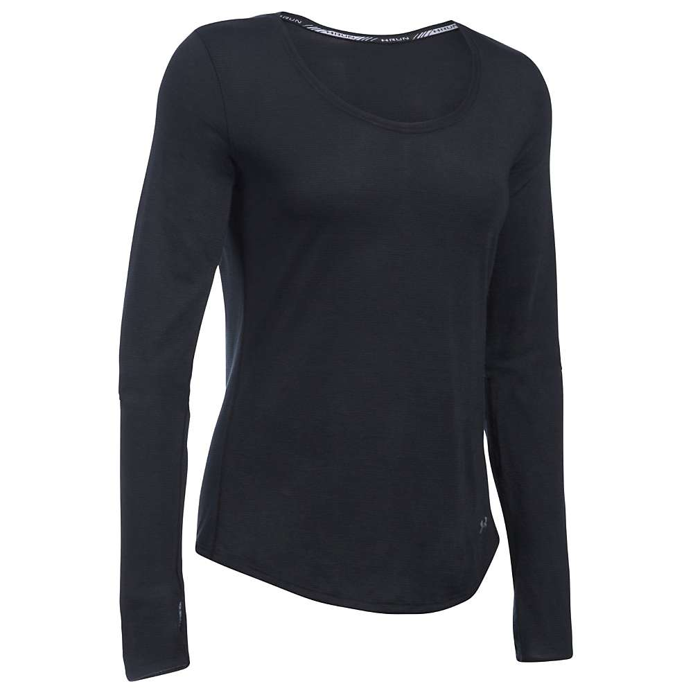 Under Armour Women's Threadborne Streaker LS Top - XS - Black / Reflective