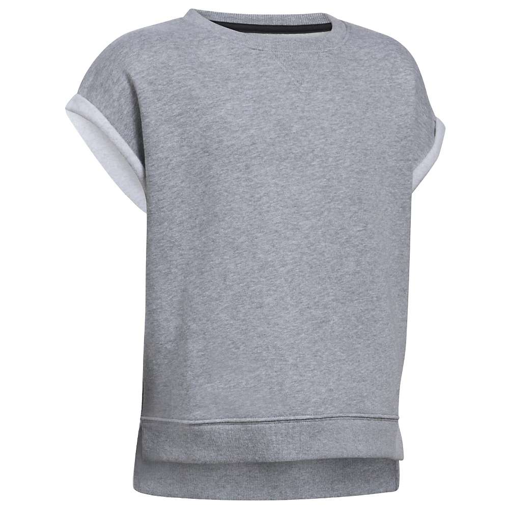 Under Armour Girls' UA Favorite Fleece Crew Neck Top - Small - True Grey Heather / Black