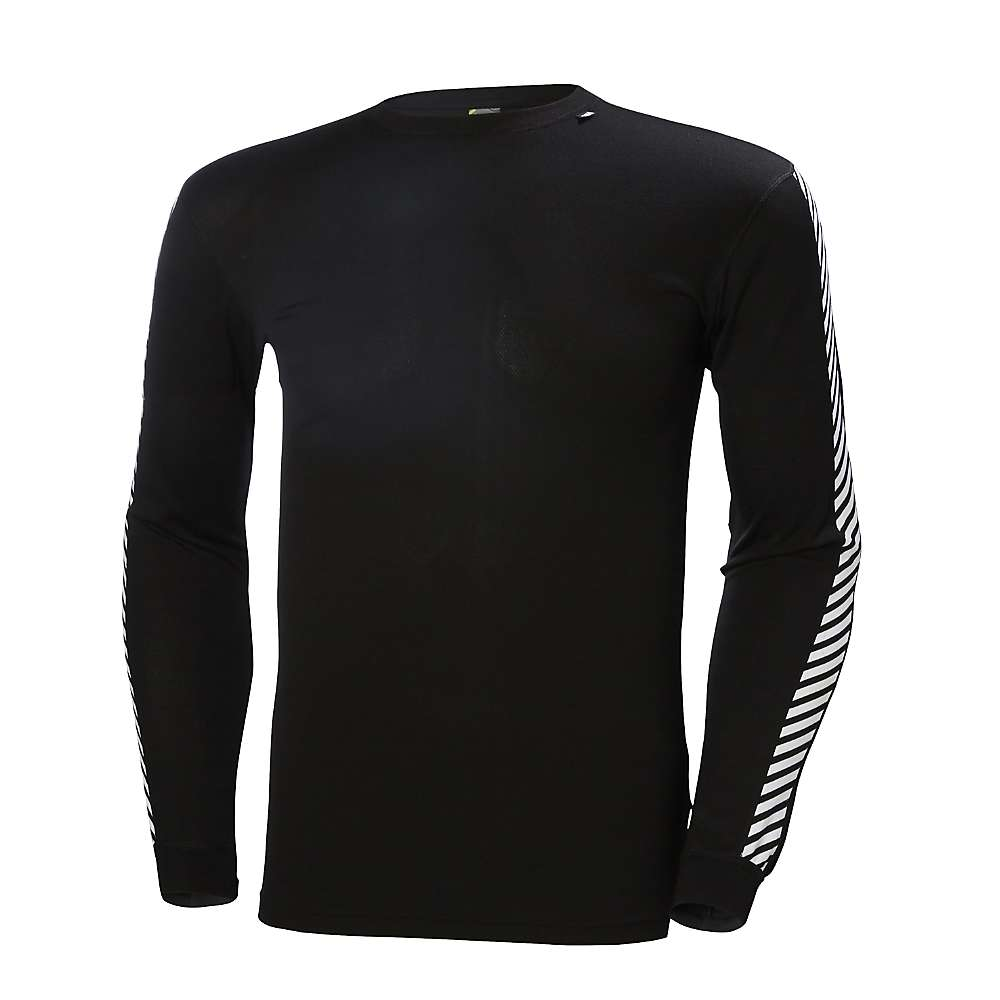 Helly Hansen Men's HH Lifa Stripe Crew Top - Medium - Black