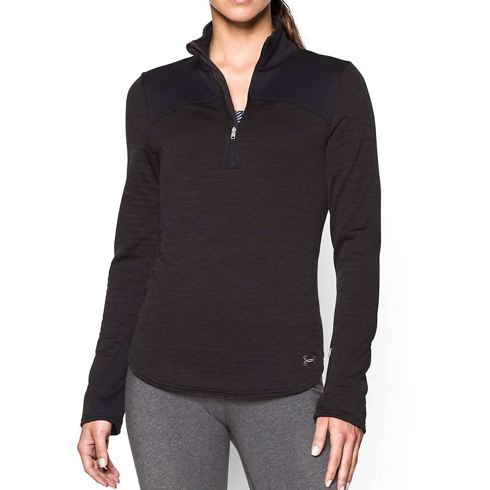 Under Armour Women's UA Expanse 1/4 Zip Top - Small - Asphalt Heather / Black / Boulder