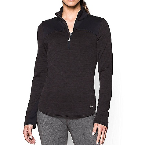 Under Armour Women's UA Expanse 1/4 Zip Top Asphalt Heather / Black / Boulder