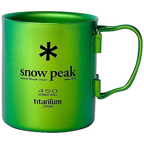 Snow Peak Titanium Double Wall Cup MG-053GR-US