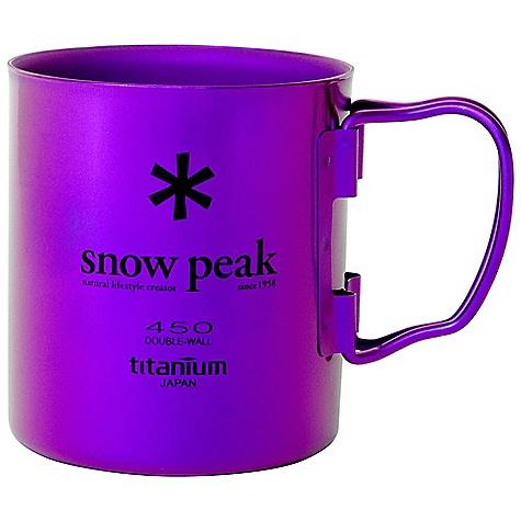 Snow Peak Titanium Double Wall Cup Purple