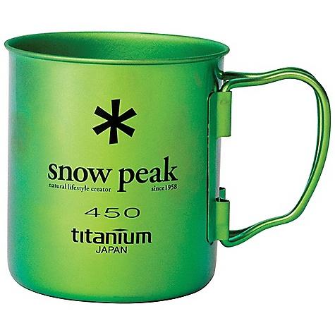 Snow Peak Titanium Single Wall Cup 450 MG-043GR-US