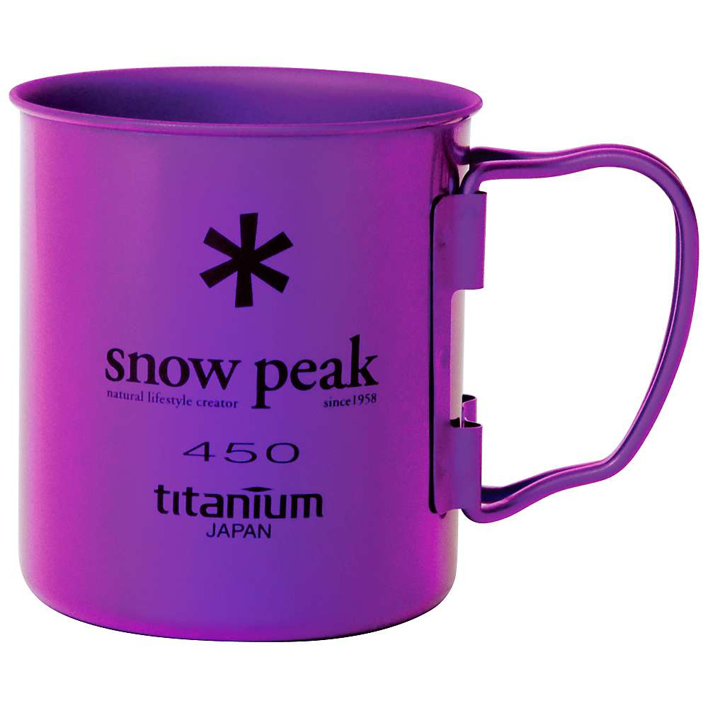 Snow Peak Titanium Single Wall Cup 450
