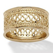 14k Yellow Gold-Plated Open-Weave Band
