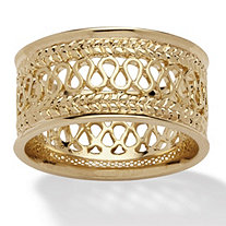 Open Weave Decorative Ring in 14k Gold-Plated