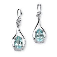 Blue Topaz Earrings - Shop PalmBeach  & Save!