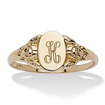 10k Gold Signet I.D. Ring