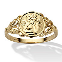 10k Yellow Gold Angel Ring
