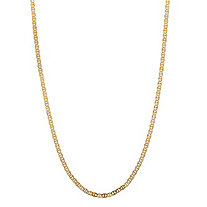 10k Yellow Gold Mariner-Link Chain 20""