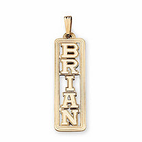 10k Gold Personalized Name Pendant