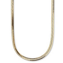 Herringbone Chain in Yellow Gold Tone 20""